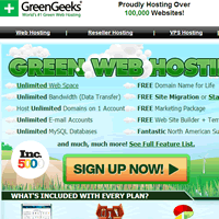 Top 10 Web Hosting - GreenGeeks