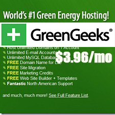 GreenGeeks Coupon | 20% Discount For $3.96/mo Only