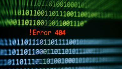 404 Page Not Found Error Code