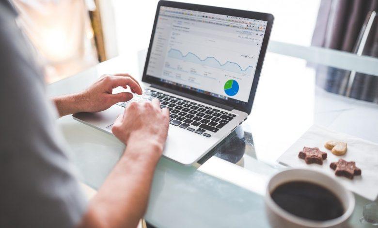 Google Analytics on a laptop screen