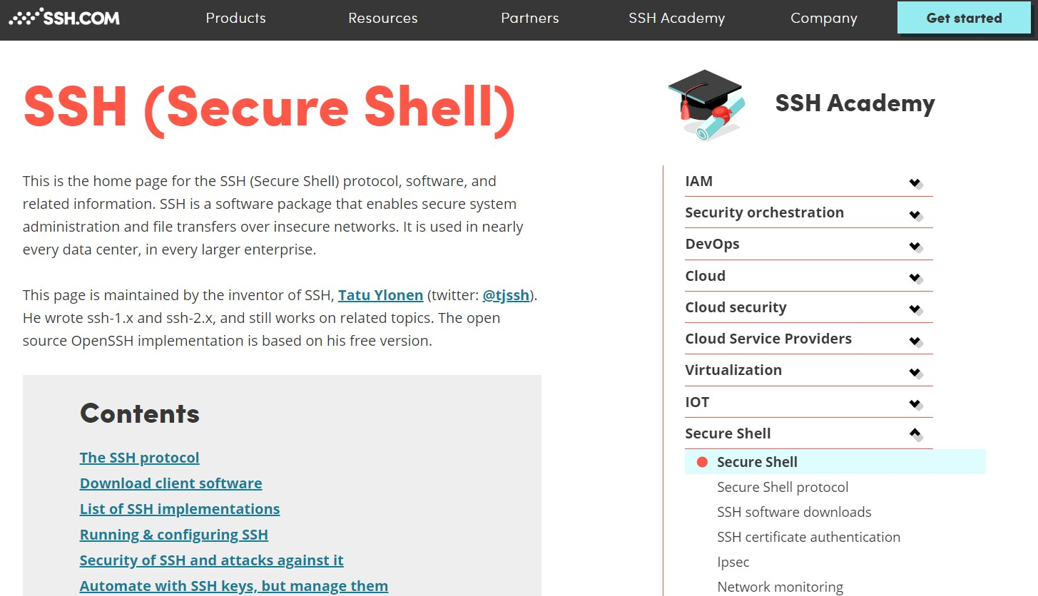 The SSH.com homepage