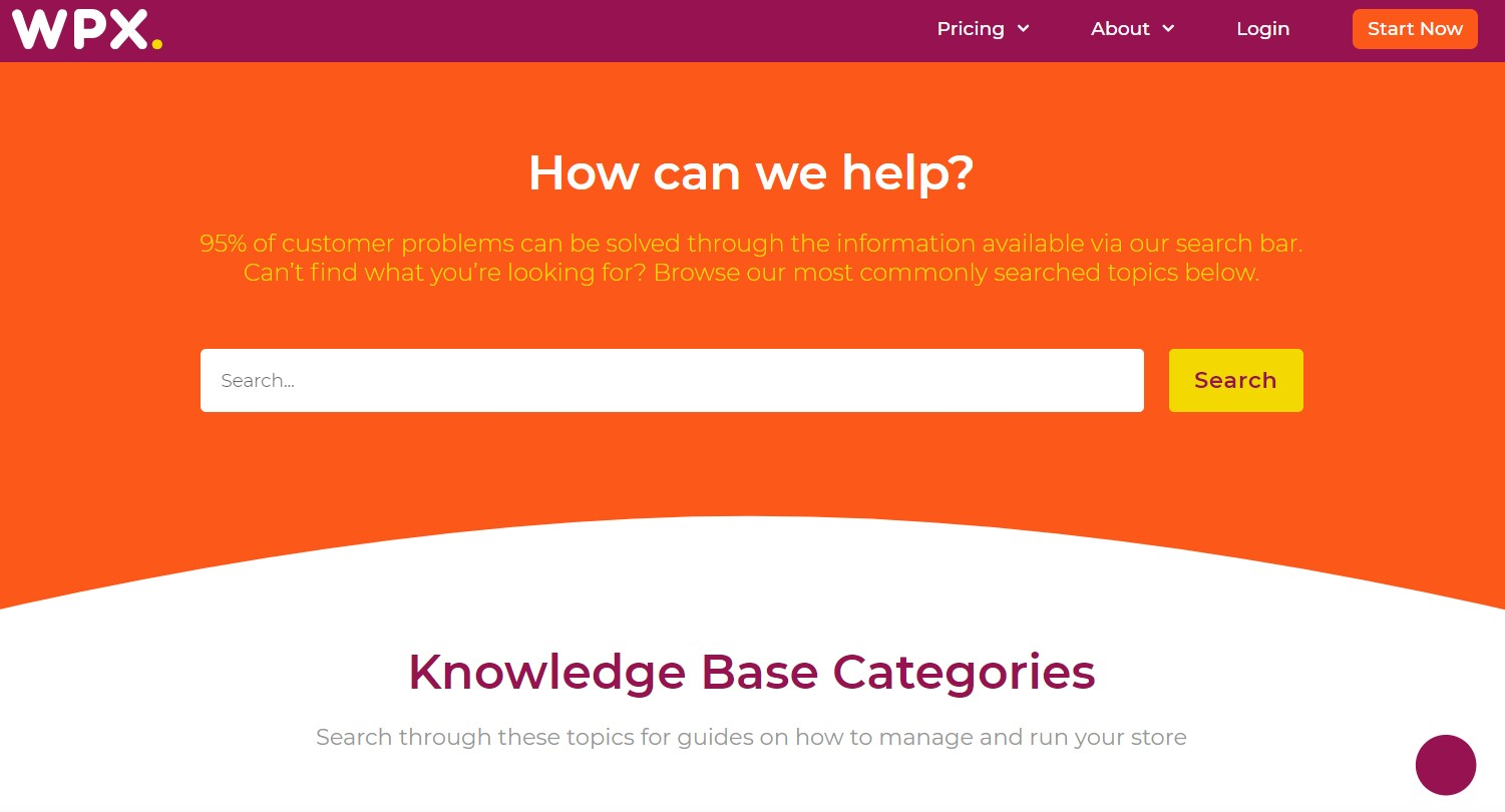 The WPX Knowledge Base center